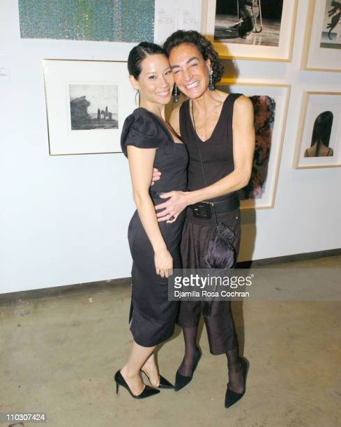 Lucy Liu and Annalu Ponti during New York Studio School Benefit Gala October 19 2006 at Prince George Ballroom in New York City New York United States