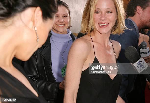Lucy Liu and Christina Applegate during AMC Movieline's Hollywood Life Magazine's Young Hollywood Awards Arrivals by Chris Polk at El Rey Theatre in...