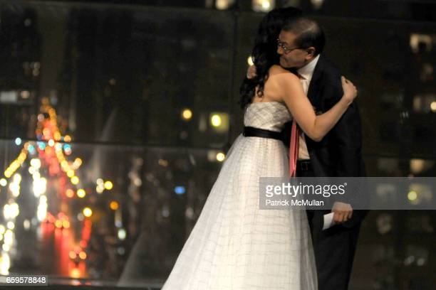 Lucy Liu and Dr David Ho attend The Inaugural IRENE DIAMOND AWARD GALA at Jazz at Lincoln Center on October 15 2016 in New York City
