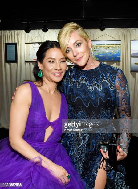 Lucy Liu and Jane Krakowski attend the 73rd Annual Tony Awards at Radio City Music Hall on June 09, 2019 in New York City.
