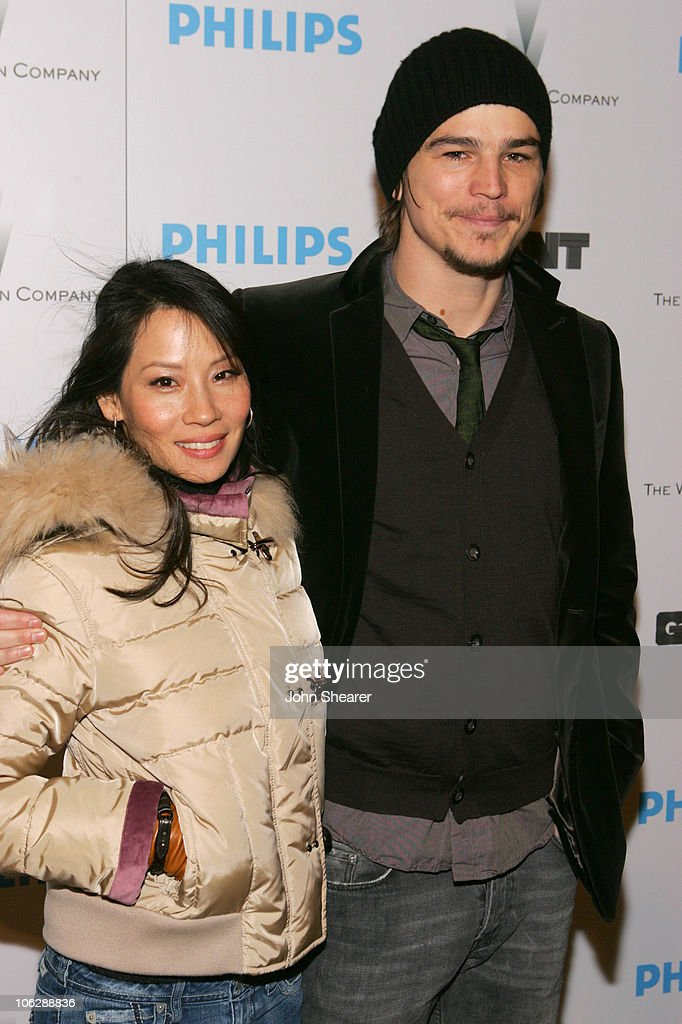 Lucy Liu and Josh Hartnett during 2006 Park City - Philips Hosts Weinstein Co's 'Lucky Number Slevin' Party at Village at the Lift in Park City, Utah, United States.