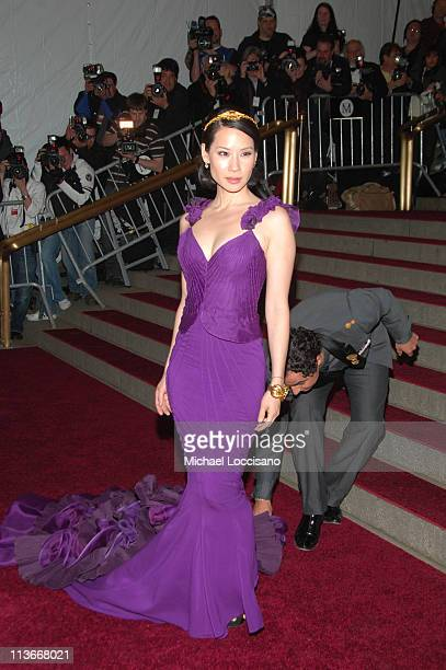 Lucy Liu and Zac Posen during 'Poiret King of Fashion' Costume Institute Gala at The Metropolitan Museum of Art Arrivals at Metropolitan Museum of...