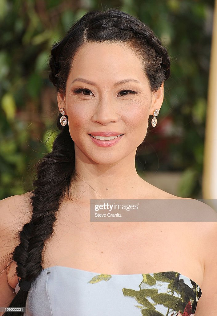 Lucy Liu arrives at the 70th Annual Golden Globe Awards at The Beverly Hilton Hotel on January 13, 2013 in Beverly Hills, California.