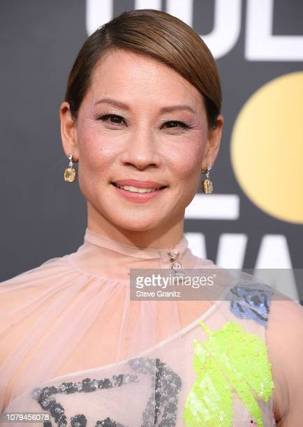 Lucy Liu arrives at the 76th Annual Golden Globe Awardsat The Beverly Hilton Hotel on January 6 2019 in Beverly Hills California