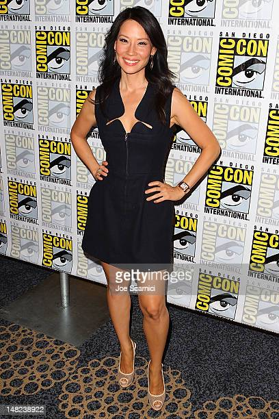 Lucy Liu arrives at the 'Beauty and the Beast' and 'Elementary' press line at ComicCon International 2012 Day 1 at San Diego Convention Center on...