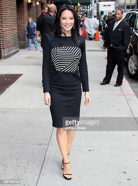 Lucy Liu arrives to 'Late Show with David Letterman' at Ed Sullivan Theater on October 9 2013 in New York City