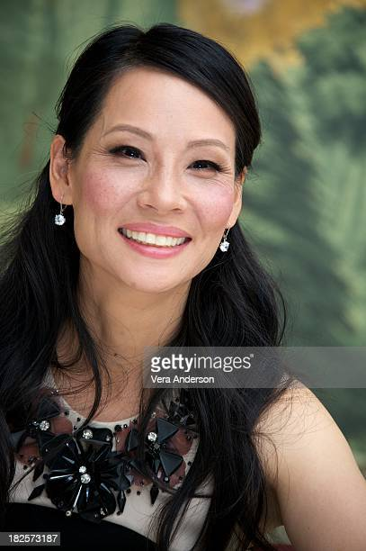 Lucy Liu at the 'Elementary' Press Conference at The London Hotel on September 29 2013 in New York New York