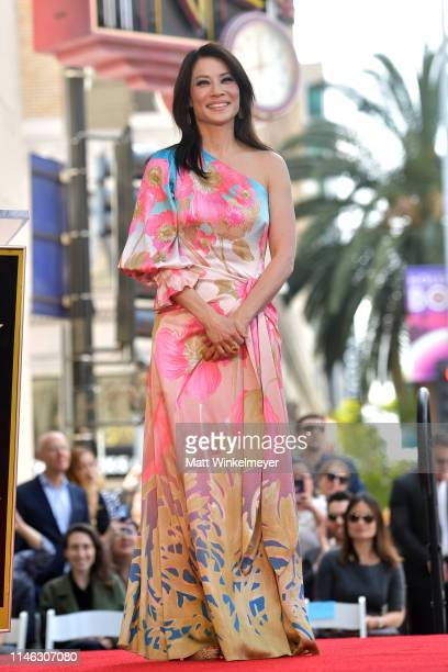 Lucy Liu attends a ceremony honoring her with a star on the Hollywood Walk Of Fame on May 1 2019 in Hollywood California