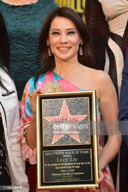 Lucy Liu attends a ceremony honoring her with a star on the Hollywood Walk Of Fame on May 1, 2019 in Hollywood, California.