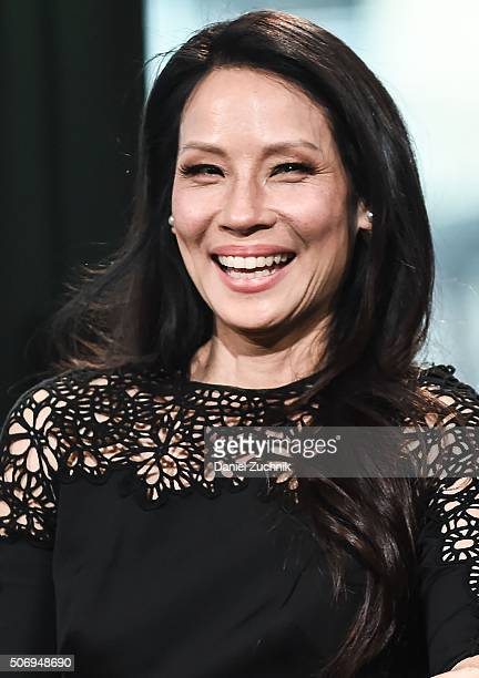 Lucy Liu attends AOL Build to discuss her new movie 'Kung Fu Panda 3' at AOL Studios on January 26 2016 in New York City