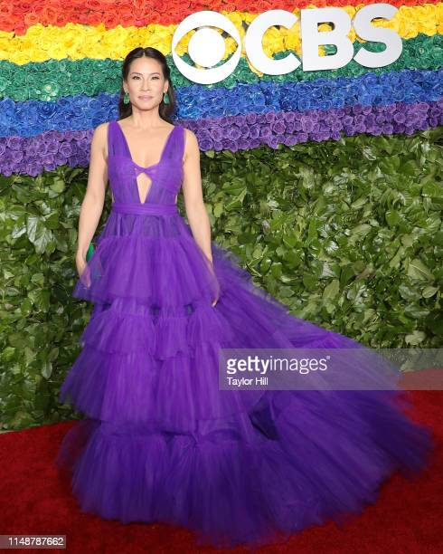 Lucy Liu attends the 2019 Tony Awards at Radio City Music Hall on June 9, 2019 in New York City.