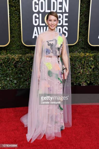 Lucy Liu attends the 76th Annual Golden Globe Awards at The Beverly Hilton Hotel on January 6, 2019 in Beverly Hills, California.