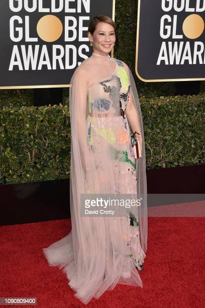 Lucy Liu attends the 76th Annual Golden Globe Awards at The Beverly Hilton Hotel on January 06 2019 in Beverly Hills California