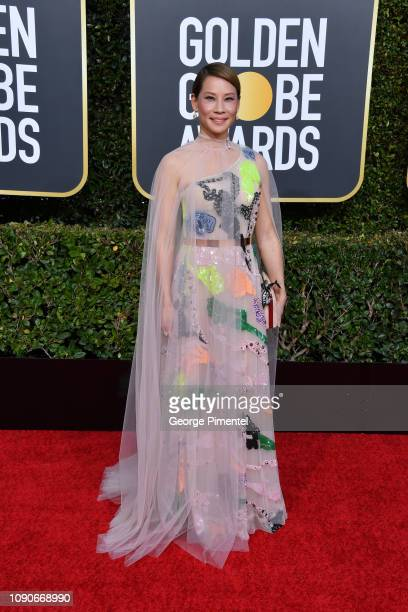 Lucy Liu attends the 76th Annual Golden Globe Awards held at The Beverly Hilton Hotel on January 06 2019 in Beverly Hills California