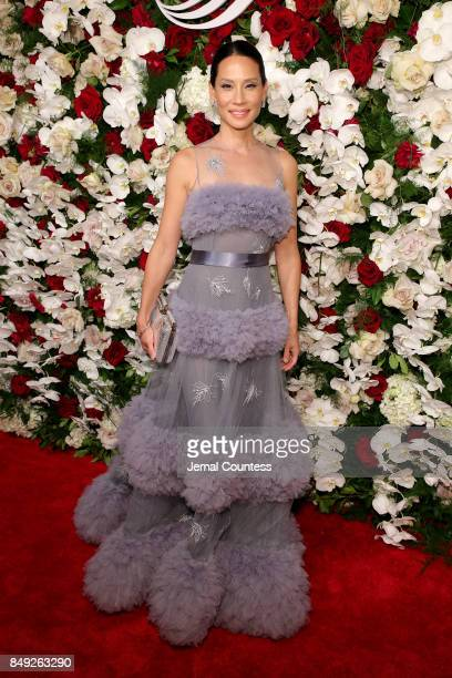 Lucy Liu attends the American Theatre Wing Centennial Gala at Cipriani 42nd Street on Septembe