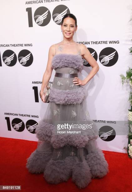 Lucy Liu attends The American Theatre Wing's Centennial Gala at Cipriani 42nd Street on September 18 2017 in New York City