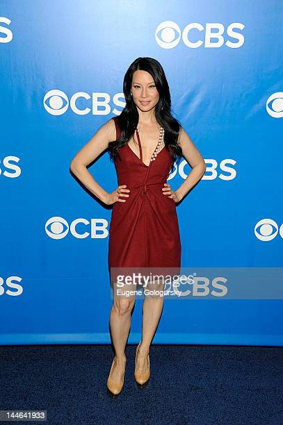 Lucy Liu attends the CBS Upfront 2012 at The Tent at Lincoln Center on May 16 2012 in New York City