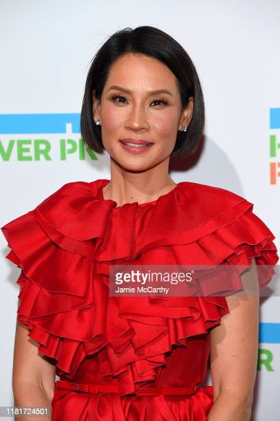 Lucy Liu attends the Hudson River Park Annual Gala at Cipriani South Street on October 17, 2019 in New York City.