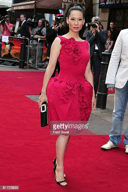 Lucy Liu attends the Kung Fu Panda UK Premiere at the Vue Cinema in Leicester Square on June 26, 2008 in London, England.