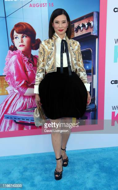 Lucy Liu attends the LA Premiere of CBS All Access' Why Women Kill at Wallis Annenberg Center for the Performing Arts on August 07 2019 in Beverly...