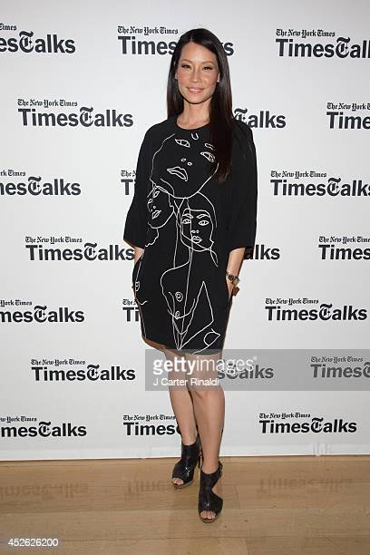 Lucy Liu attends 'TimesTalks' at Times Center on July 24 2014 in New York City