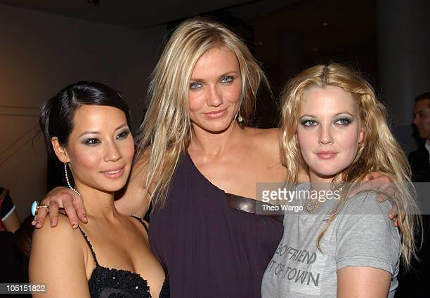 """Lucy Liu, Cameron Diaz and Drew Barrymore during """"Charlie's Angels: Full Throttle"""" New York City Premiere - Arrivals at Sony Lincoln Square in New..."""