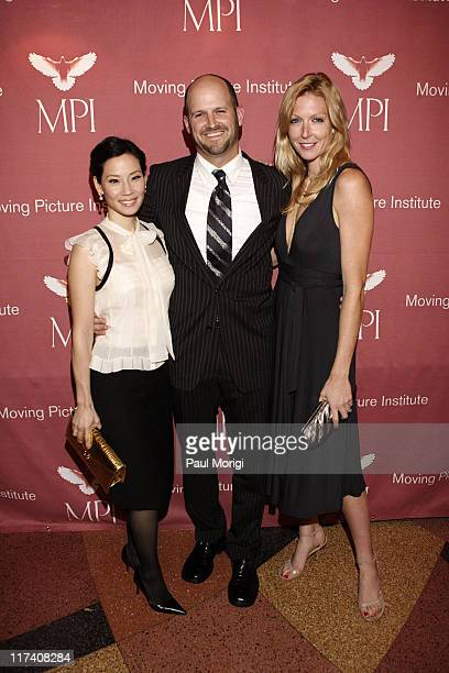 """Lucy Liu, Colin Gray and Megan Raney Aarons during Screening of """"Freedom's Fury"""" in Washington, D.C. - November 17, 2006 at The Uptown Theater in..."""