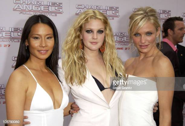 Lucy Liu Drew Barrymore and Cameron Diaz during Charlie's Angels 2 Full Throttle Premiere at Mann's Chinese Theater in Hollywood California United...