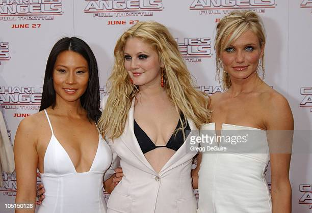 """Lucy Liu, Drew Barrymore & Cameron Diaz during """"Charlie's Angels 2 - Full Throttle"""" Premiere at Mann's Chinese Theater in Hollywood, California,..."""