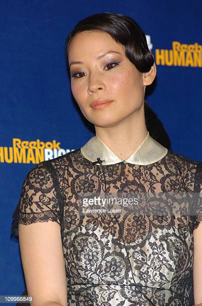 Lucy Liu during 2004 Reebok Human Rights Award at Charles Dana Lounge at Avery Fisher Hall Lincoln Center in New York City New York United States