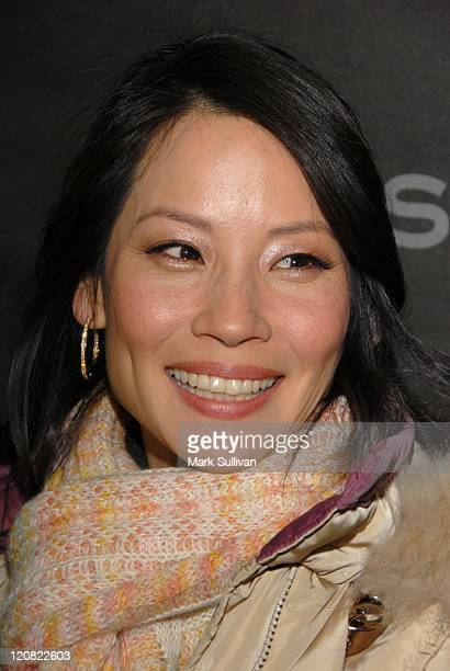 Lucy Liu during 2006 Sundance Film Festival 'Lucky Number Slevin' Premiere Arrivals at Eccles in Park City Utah United States