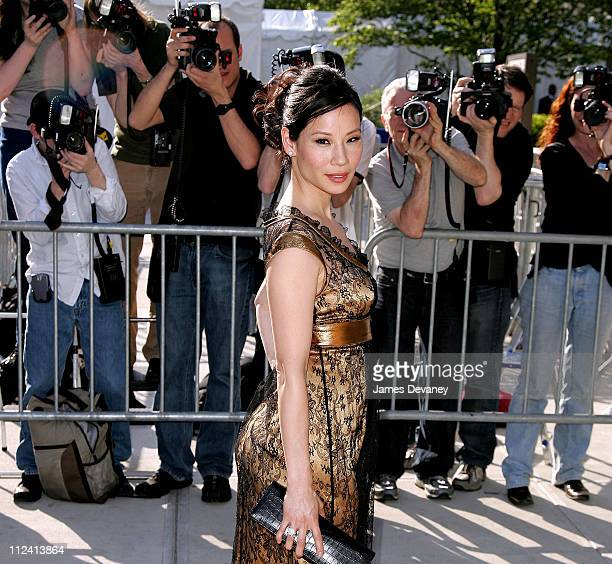 Lucy Liu during 2007 ABC UpFront Outside Arrivals at Lincoln Center in New York City New York United States