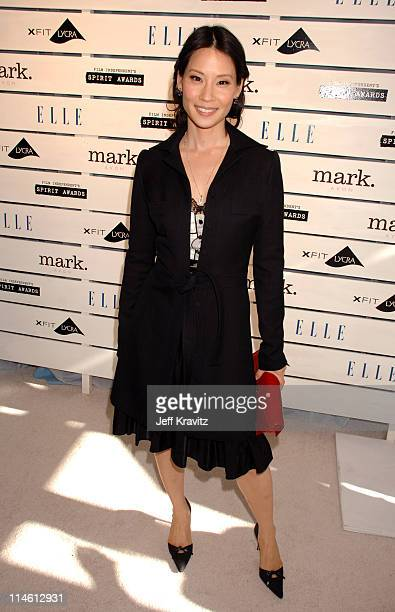 Lucy Liu during 2007 Film Independent's Spirit Awards Backstage at Santa Monica Pier in Santa Monica California United States