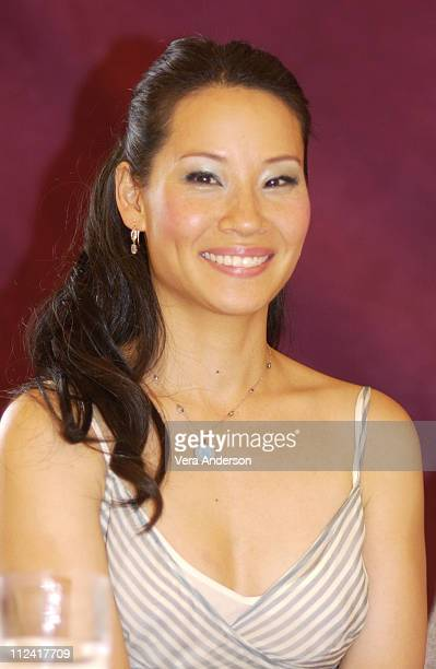 """Lucy Liu during """"Charlie's Angels: Full Throttle"""" Press Conference with Cameron Diaz, Drew Barrymore, Lucy Liu and McG at Casa del Mar Hotel in Santa..."""