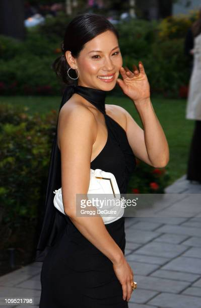Lucy Liu during Fashion For A Cause: Emanuel Ungaro Fashion Show To Benefit Rape Treatment Center at Private Home of Heather Thomas in Santa Monica,...