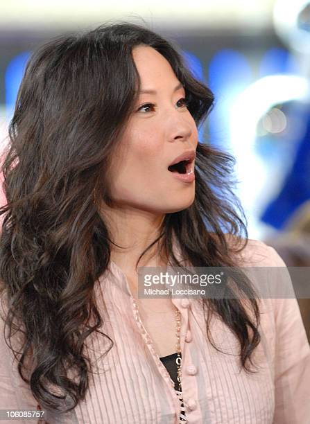 Lucy Liu during Lucy Liu Josh Hartnett and Rob Schneider Visit MTV's TRL April 6 2006 at MTV Studios Times Square in New York City New York United...
