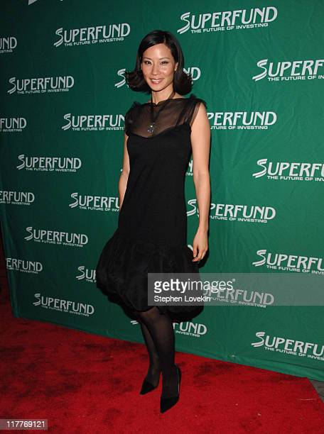 Lucy Liu during The 2006 Women's World Awards - Red Carpet at The Hammerstein Ballroom in New York City, New York, United States.