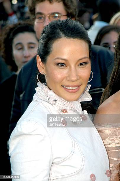 Lucy Liu during The Matrix Reloaded Premiere at Mann Village Theater in Westwood California United States