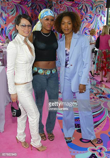 Lucy Liu Eve and Angela Bassett during Versace Luncheon to Benefit Children's Action NetworkWestside Children's Center Sponsored By InStyle Magazine...