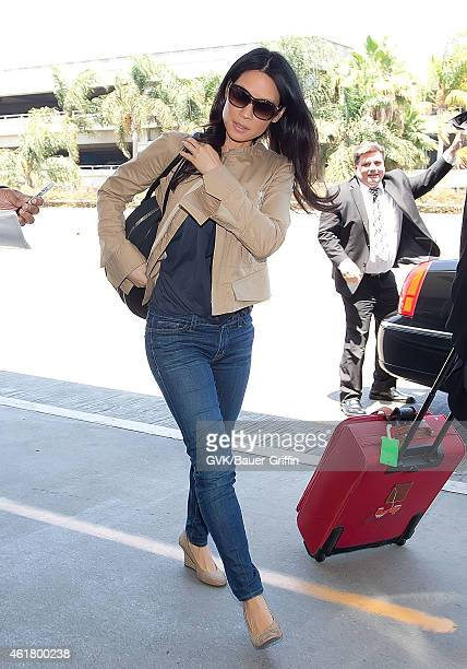 Lucy Liu is seen at Los Angeles International Airport on July 30 2012 in Los Angeles California