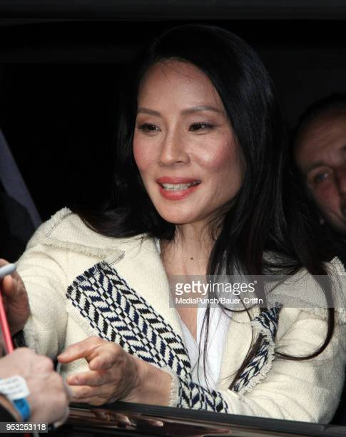 Lucy Liu is seen on April 30 2018 in New York City