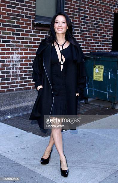 Lucy Liu leaves 'The Late Show with David Letterman' at Ed Sullivan Theater on October 11 2012 in New York City