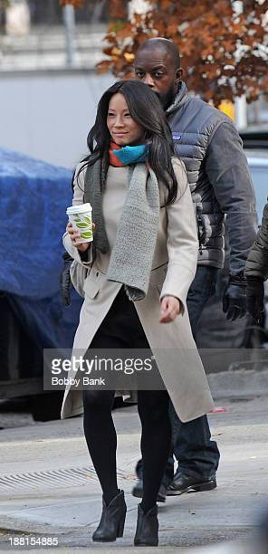 Lucy Liu on the set of 'Elementary' on November 15 2013 in New York City