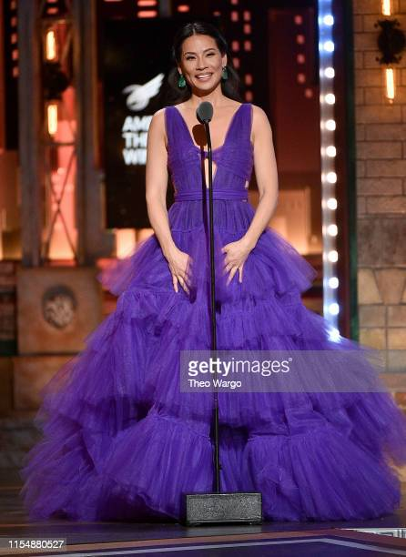 Lucy Liu presents an award onstage during the 2019 Tony Awards at Radio City Music Hall on June 9, 2019 in New York City.
