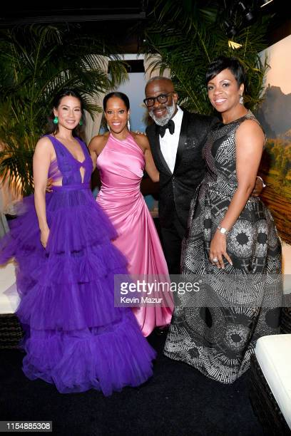 Lucy Liu Regina King and BeBe Winans attend the 73rd Annual Tony Awards at Radio City Music Hall on June 09 2019 in New York City