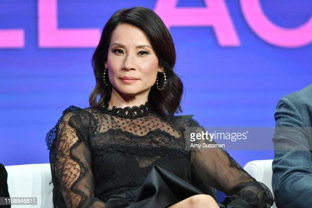 """Lucy Lui of """"Why Women Kill"""" speaks during the CBS segment of the 2019 Summer TCA Press Tour at The Beverly Hilton Hotel on August 1, 2019 in Beverly..."""