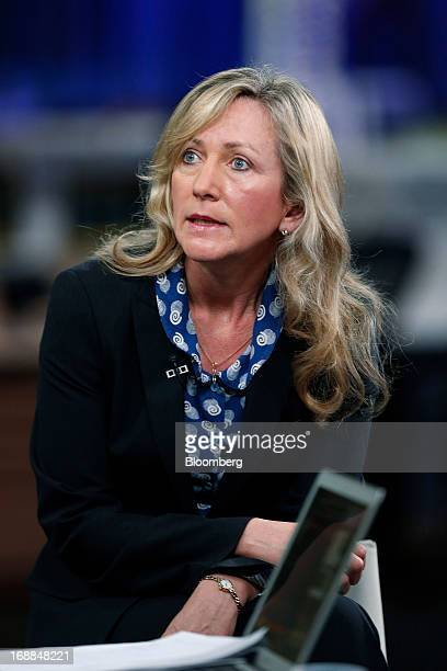 Lucy MacDonald chief investment officer for equities at Allianz Global Investors speaks during a Bloomberg Television interview in London UK on...