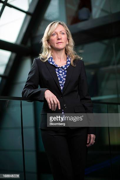 Lucy MacDonald chief investment officer for equities at Allianz Global Investors poses for a photograph following a Bloomberg Television interview in...