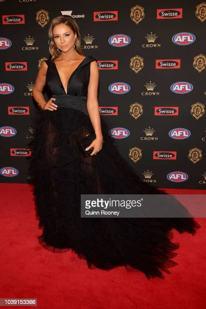 Lucy McArthur arrives ahead of the 2018 Brownlow Medal at Crown Entertainment Complex on September 24 2018 in Melbourne Australia