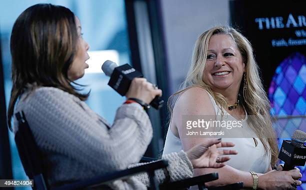 Lucy McBath and Filmmaker Abigail Disney discuss The Armor Of Light during AOL BUILD speaker series at AOL Studios In New York on October 29 2015 in...